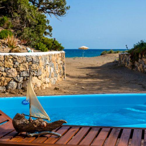 Maison Catherine close to Prassonisi beach front pool villa