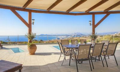 Faliraki View Villa with 180 degree ocean view